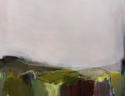 Abstract Landscape By Portland Artist Amanda Hawkins