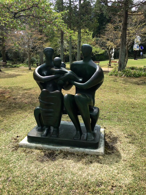 Henry Moore Sculpture At Hakone Open-Air Museum In Japan
