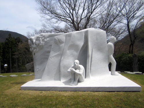 Giuliano Vangi 2004 White Sculpture In Japan