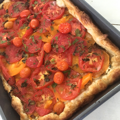Baked Tomato Tart Fresh Out Of The Oven