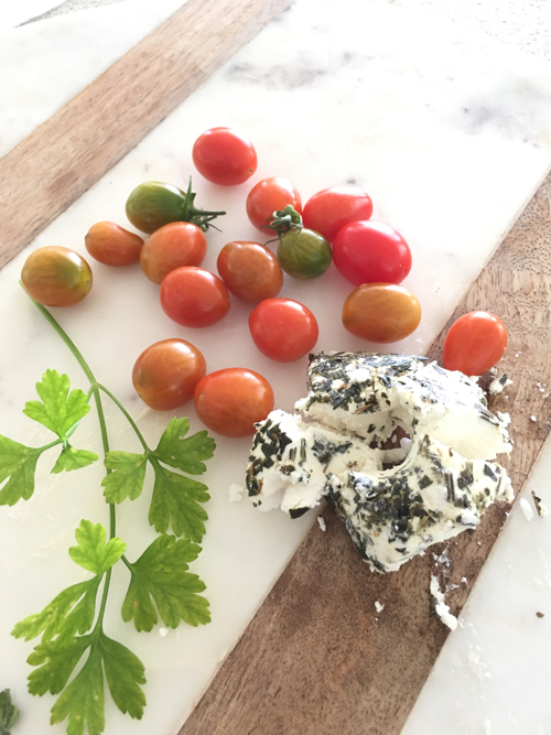 Grape Tomatoes Parley Herbed Goat Cheese