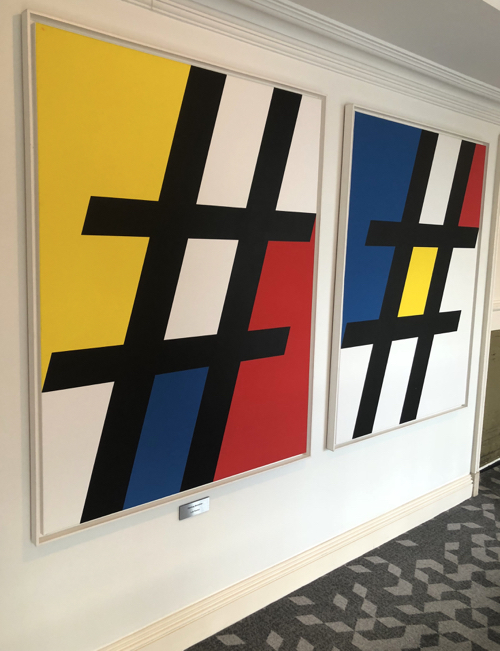mondrian style paintings