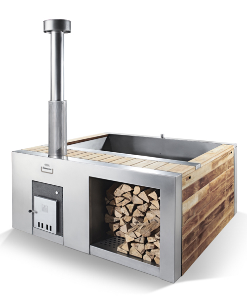 Wood Stove Fired Hot Tub