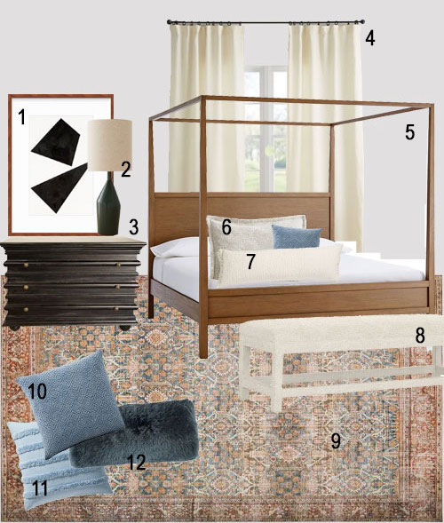 Transitional Bedroom Furniture Modern Canopy Bed