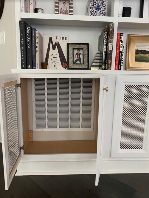 Cabinets That Hide An Air Vent