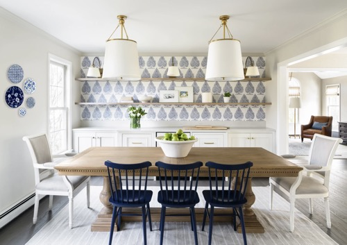 Dining Room Makeover With Floating Shelves