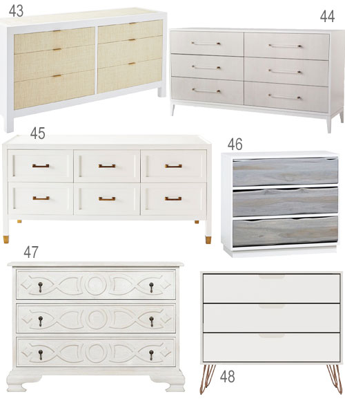Contemporary White Dressers Bedroom Furniture