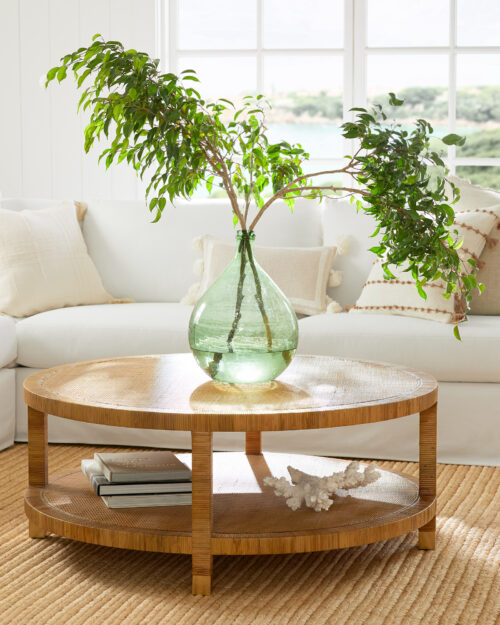 Serena & Lily Balboa Rattan Coffee Table