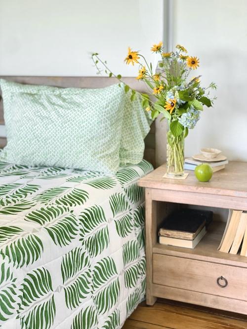 S&L Bedroom Makeover Green Granada Quilt