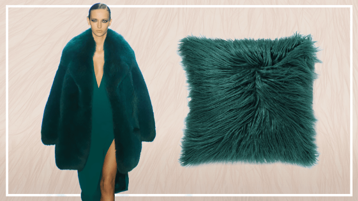 how to make the fur pillow trend work