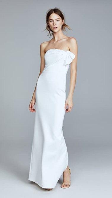 STYLECASTER | wedding dress trends 2021 | sheath dress