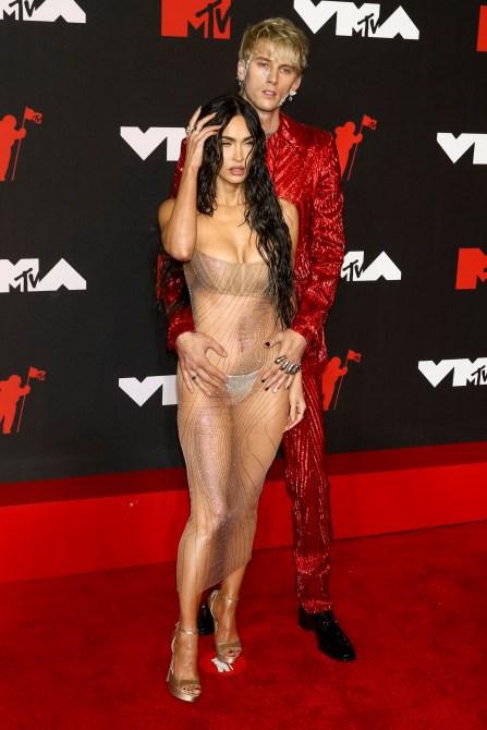 STYLECASTER | Megan Fox Naked Dress