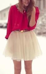 Este look es muy lindo por el contraste de colores