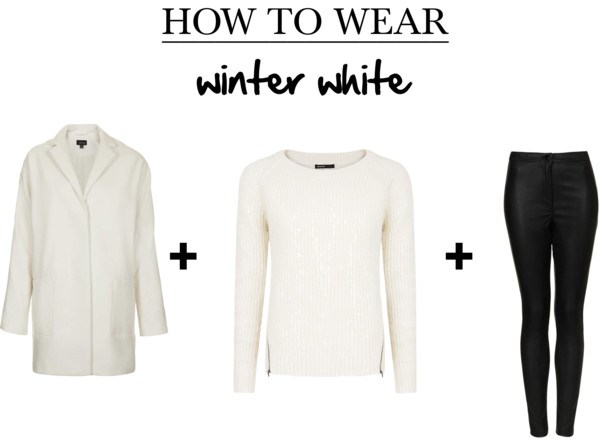 winter white with black
