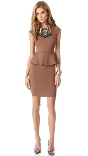 alice+olivia peplum dress