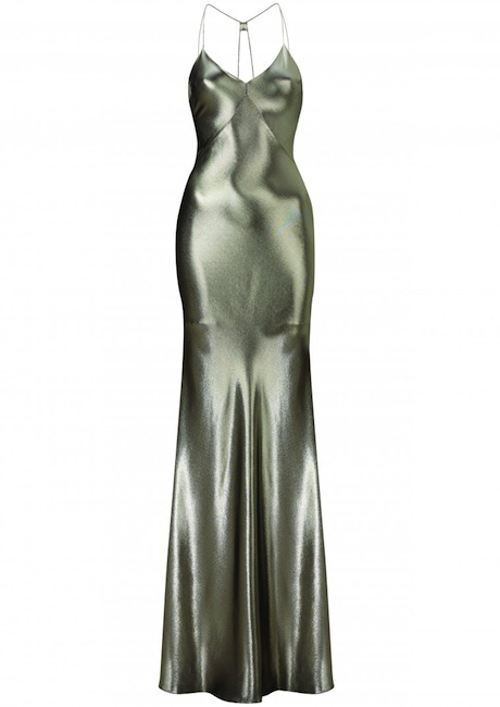 metallic gown