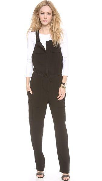 black dressy overalls