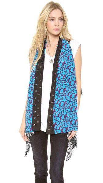belted scarf dvf