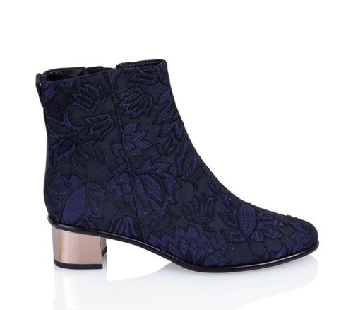 Tibi Brocade Booties