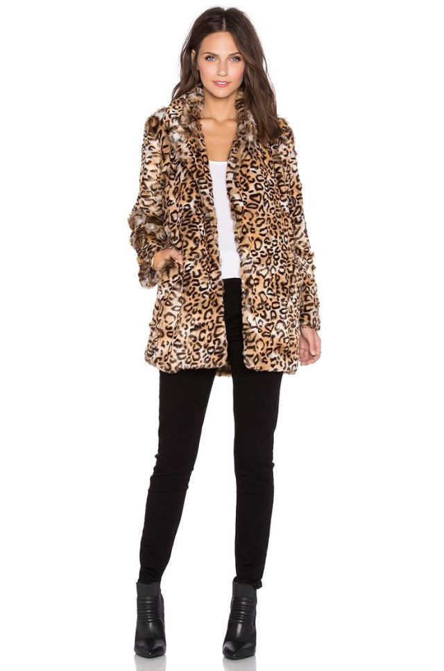 leopard print coat revolve clothing