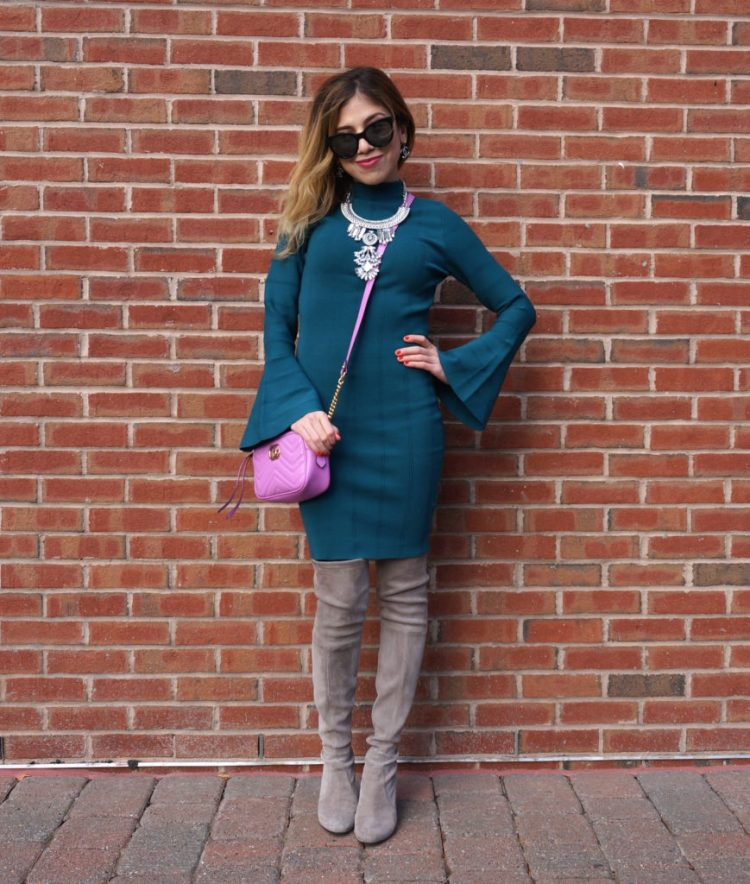 outfit-of-the-day-sweater-dress