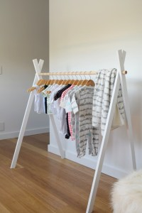 DIY Kids Teepee Clothing Rack