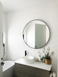 Gina's home: Black and white bathroom reveal