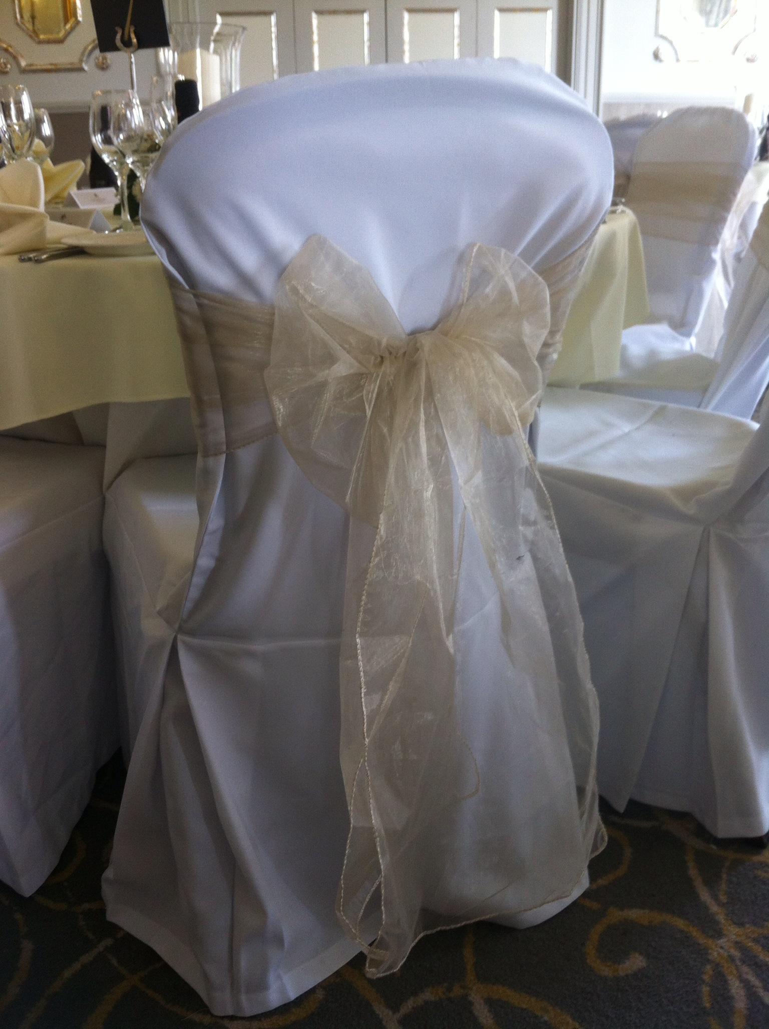 Champagne Chair Covers Close House Newcastle Wedding With Chair Covers And Champagne
