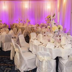 Couture Chair Covers And Events Replacement Seats Backs Wedding At Ramside Hall With Ivory Lace Sashes Coversstyled & Seated