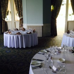 Chair Covers Wedding Yorkshire Navy Accent And Table Linen For Wynyard Hall Weddings In