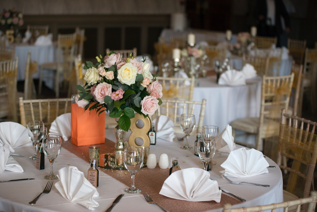 sequin chair covers uk small office chairs a romantic rose gold wedding at the roker hotel in sunderlandstyled & seated