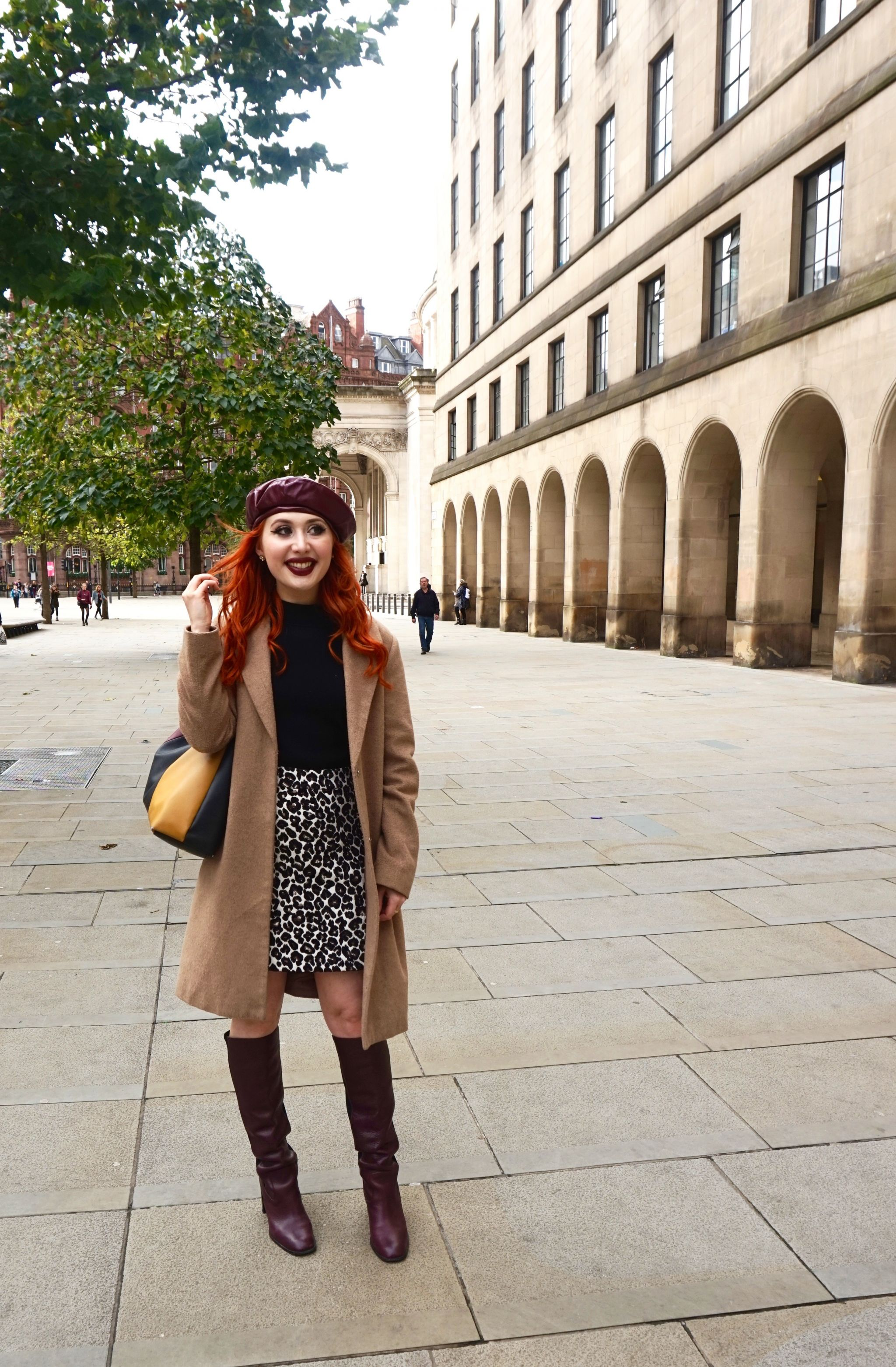Blogger Twenty-Something City in St Peter's Square Manchester talking about street style Instagram photography
