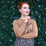 Blogger Twenty-Something City wears Goldren Girl jumper from Joanie Clothing in Manchester