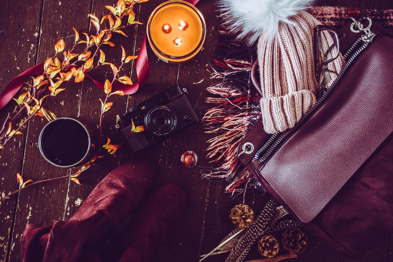 Autumn fashion flat lay about blogging misconceptions by blogger Twenty-Something City