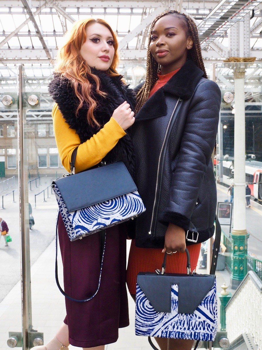 Edinburgh bloggers and Instagrammers model Leyelesi bags