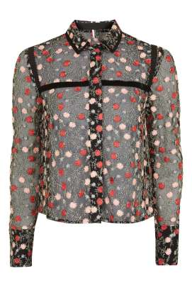 FLORAL Embroidered Shirt- £65.00
