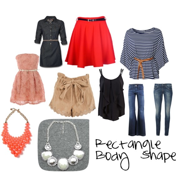 rectangle body shape outfit idea