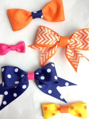 diy ribbon hair bows styled
