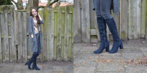 Outfit met mijn nieuwe overknee boots Styled by Larissa