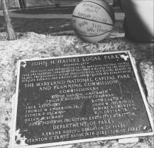 John Haines memorial.