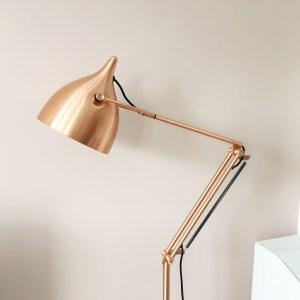 zuiver koper lamp roze