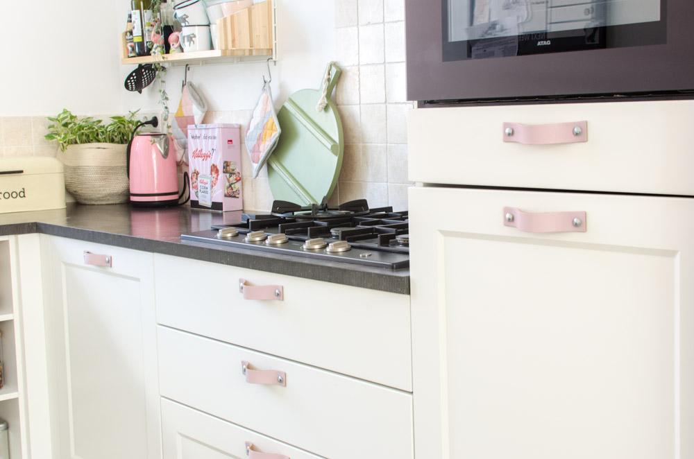 keuken leren handgrepen