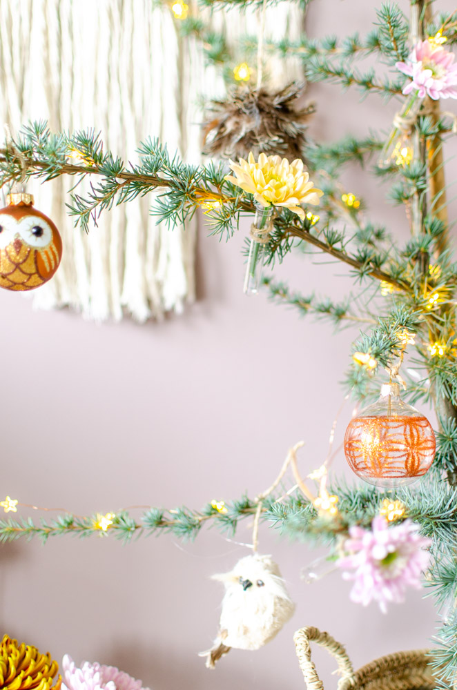 bloemen in kerstboom