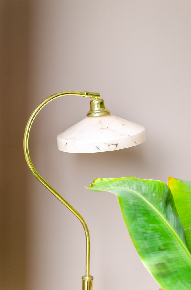 roze vintage lamp
