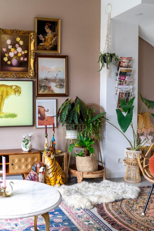 gouden spraypaint interieur