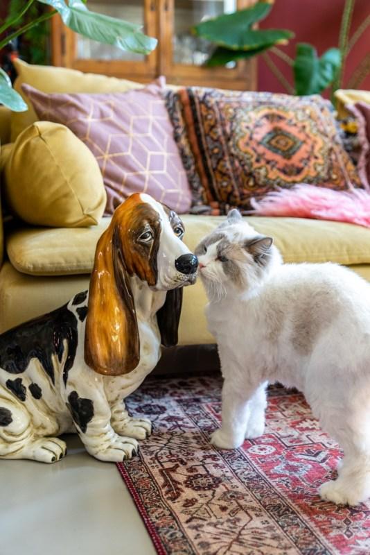 vintage porseleinen dierenbeeld