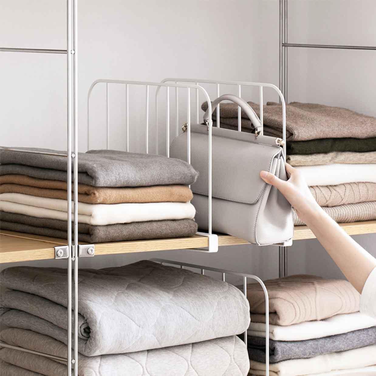 wardrobe shelf divider closet organizer style degree
