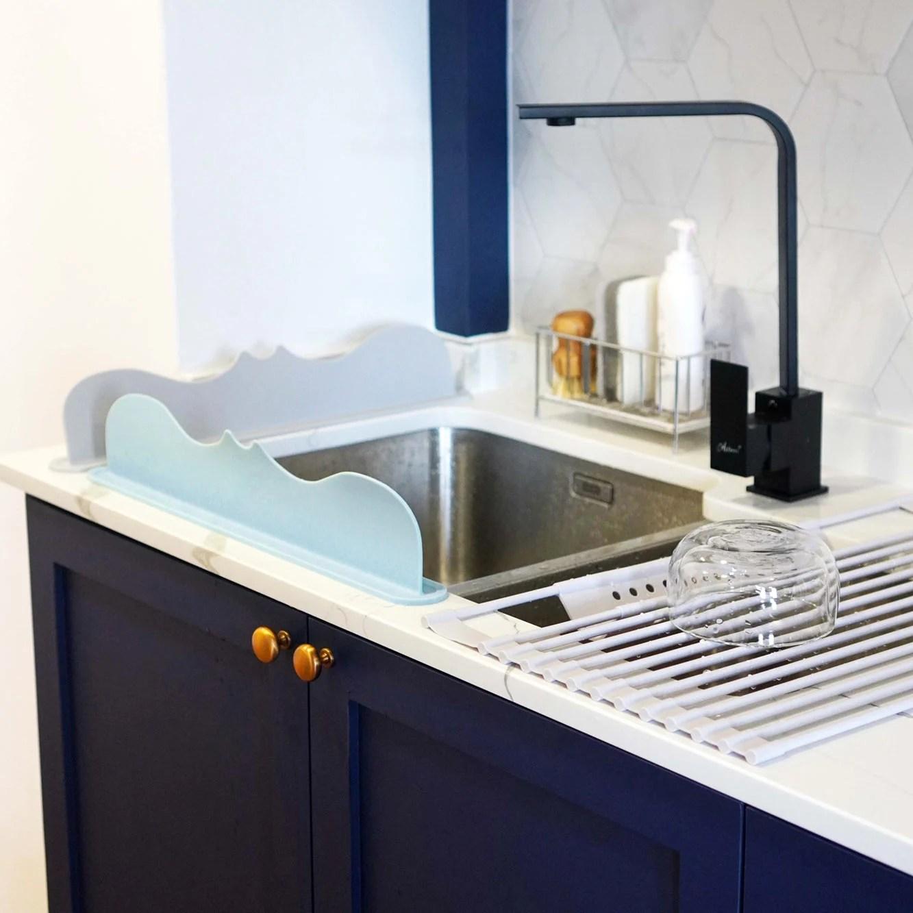 silicone sink basin splash guard kitchen bathroom style degree