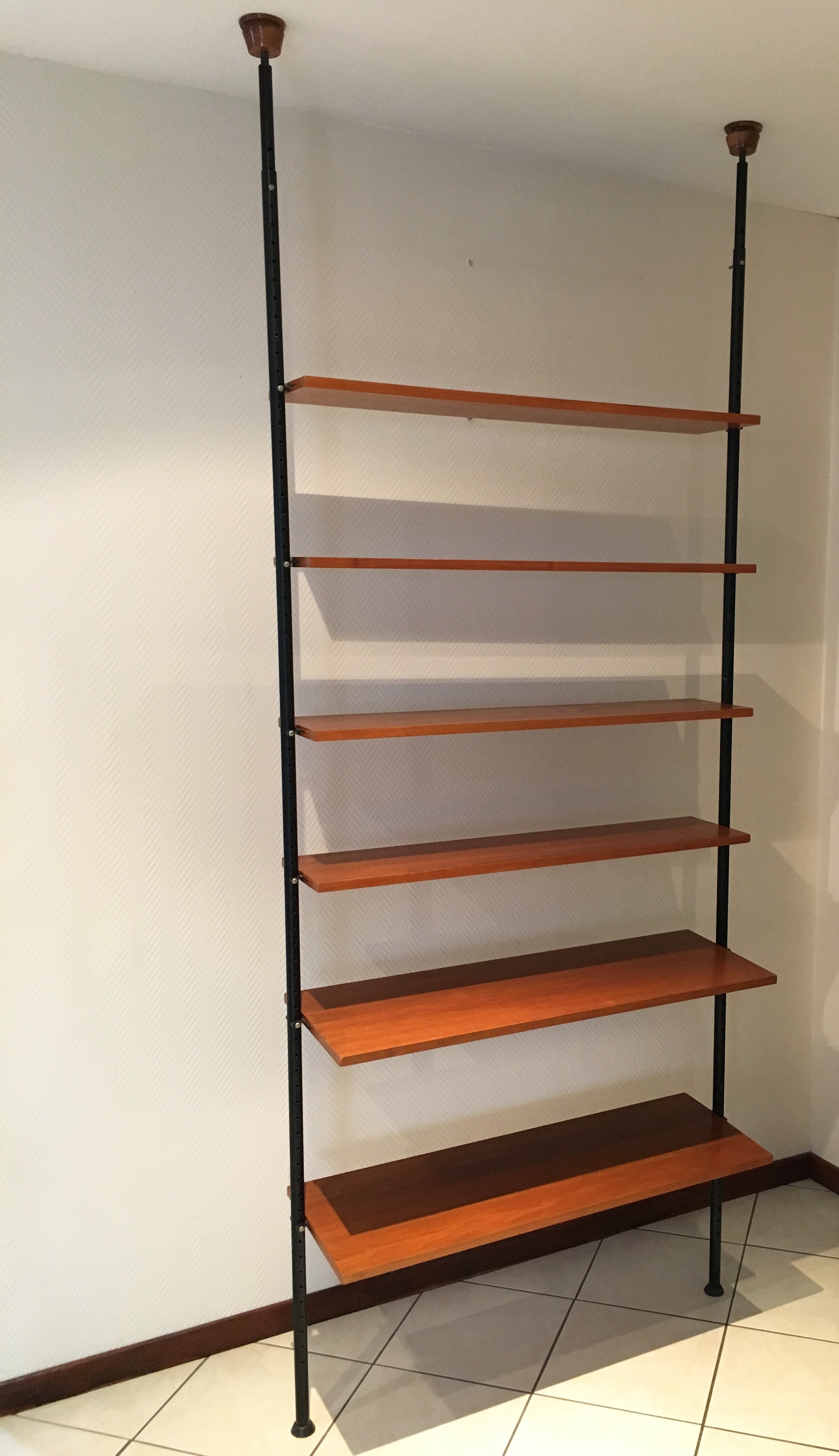 Etagre bibliothque modulable anne 60 Vintage wall unit
