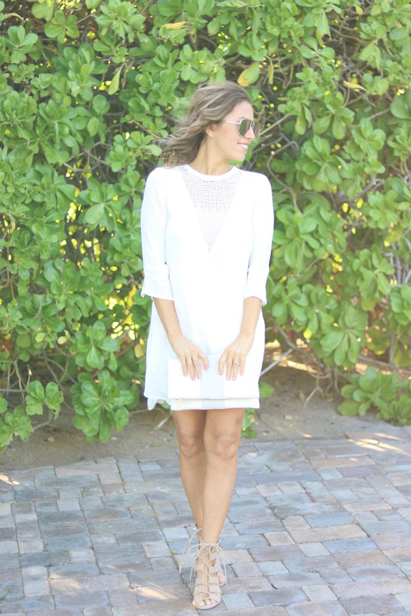 White summer dress, casual dress, casual white dress